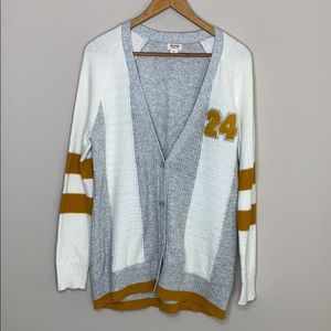 """Mossimo Letterman Jersey 50""""s Style Cardigan  Med"""